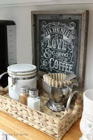 cafe kitchen decorating ideas organizing the kitchen our coffee station chalkboard print