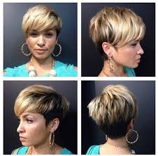 front view of side swept hairstyles latest layered short haircut with side swept bangs for women