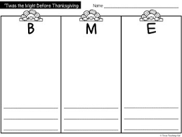 the before thanksgiving retelling printables book activity