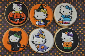 Halloween Cookie Cakes Hello Kitty Halloween Cookies Suz Daily