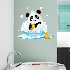 bathtime panda wall decal sticker products wall decal sticker bathtime panda wall decal sticker