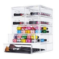 Makeup Organizer Desk by Acrylic Cosmetics Storage W Removable Drawers 3 Large And 4 Small