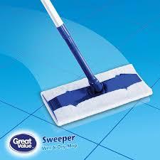 Floor Mops At Walmart by Great Value Sweeper Wet U0026 Dry Mop Kit Walmart Com
