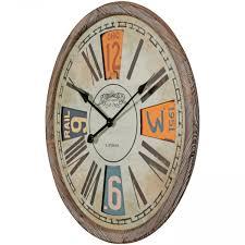 Wohnzimmer Uhren Holz Finebuy Deko Vintage Wanduhr Xxl ø 60 Cm London Materialmix Holz