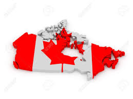 Canadian Flag Symbol Land Of Canada Painted In Color Of Canadian Flag Isolated On
