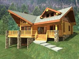 impressive log home with garage plans using stacked stone porch