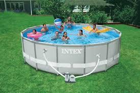 Intex Inflatable Swimming Pool Intex Metal Frame Pool Reviews