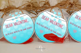 school valentines fish bowl same school valentines day favors