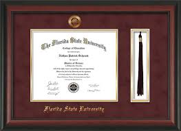 fsu diploma frame fsu diploma frame rosewoo w fsu seal tassel garn suede on