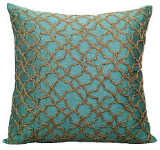 Teal Home Decor by Teal Accent Pillows Geometric Pillow 16