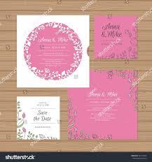 Wedding Invitation Greeting Cards Wedding Invitation Greeting Card Flower Wreath Stock Vector