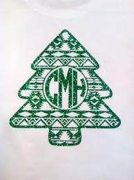 monogrammed christmas monogram shirt for holidays green ornament monogram raglan