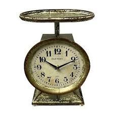 wilco home decor vintage fresh market scale clock