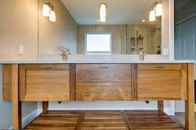 Craftsman Bathroom Lighting Craftsman Bathroom Lighting With Wooden Vanities Terrific Ideas