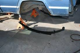 jeep xj leaf springs big blue xj part two skyjacker lift kit onallcylinders