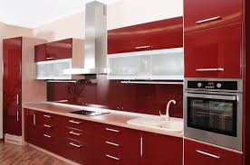 Painted Metal Kitchen Cabinets Kitchen Classy Simple Red Kitchen Cabinets Red Kitchen Cabinets
