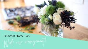 How To Make Roses Live Longer In A Vase How To Arrange Flowers Perfectly In A Wide Rectangular Vase Youtube