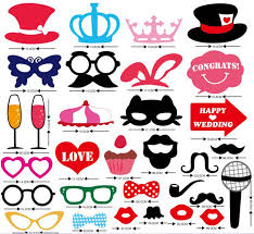 wedding photo props mustache on a stick wedding party photo booth props photobooth