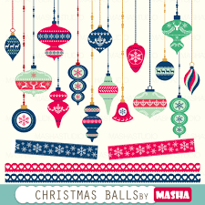 christmas clipart christmas balls clipart with