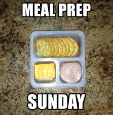 Meal Prep Meme - meal prep sunday lunchable meme generator