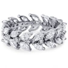 white gold leaf bracelet images Marquise diamond eternity ring 2 75ct vintage leaf floral jpg