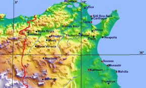 tunisia on africa map ancient towns in today s tunisia