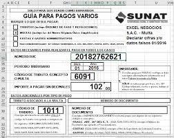 cuanto es la multa por no presentar la declaracion jurada 2015 plantilla para cálculo de multa por datos falsos pdt 621 y guía para