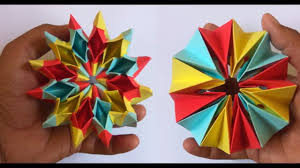 how to make easy origami magic circle fireworks diy christmas