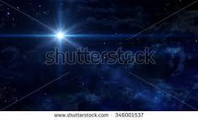 bethlehem illuminated by christmas star christ stock illustration