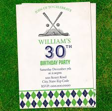 printable vintage golf birthday invitation retirement card 30th