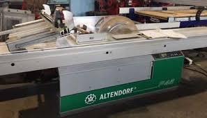 altendorf sliding table saw sliding table saw dawson equipment brokers
