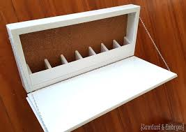 Fold Out Desk Diy White Fold Storage Murphy Desk Featuring Sawdust And