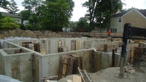 new home foundation the foundation walls are done on our glenview project america s