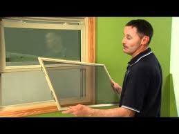 how to remove a half screen on a double hung window youtube