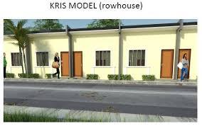 Row House Model - kris rowhouse manila homes for sale