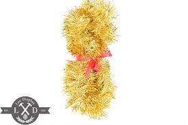 tinsel garland gold tinsel garland seasonal decorations united states
