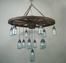Glass Bottle Chandelier Wagon Wheel Chandelier Home Decor Inspirations