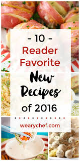 popular most popular new recipes in 2016 the weary chef