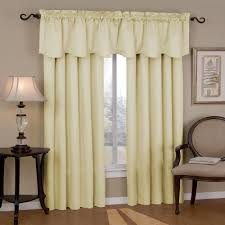 Blackout Drapes Eclipse Curtains Canova Blackout Drapes And Valance Set In Ivory