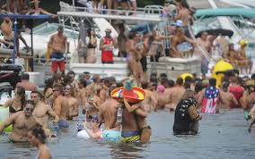 lake george park commission bans log bay day party one year after