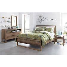 Linea II Natural Nightstand Crates Barrels And Nightstands - Used crate and barrel bedroom furniture