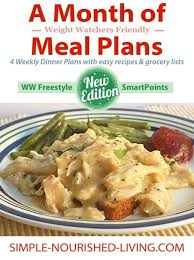 cuisine ww a month of weight watchers meal plans ebook with pointsplus