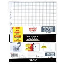 graphing paper five reinforced filler paper graph ruled 100ct white target