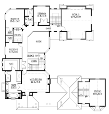Unique House Floor Plans by U Shaped Home With Unique Floor Plan Hwbdo64049 New American