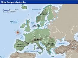 europe peninsulas map expedition earth european peninsulas