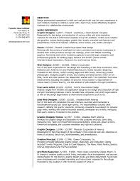 Sample Resume Objectives For Trades by Resume Objective For Graphic Designer Resume For Your Job