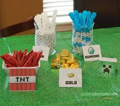 Minecraft Party Centerpieces by 59 Best Minecraft Candy Table Images On Pinterest Minecraft
