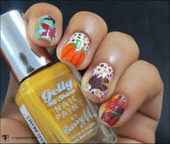 thanksgiving gel nails crazy polishes nail arts swatches reviews