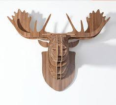 Decorative Home Wooden Stag Head Wall Trophy Stag Head Walls And Plywood