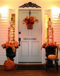 impeccable thanksgiving front door decor display remarkable orange